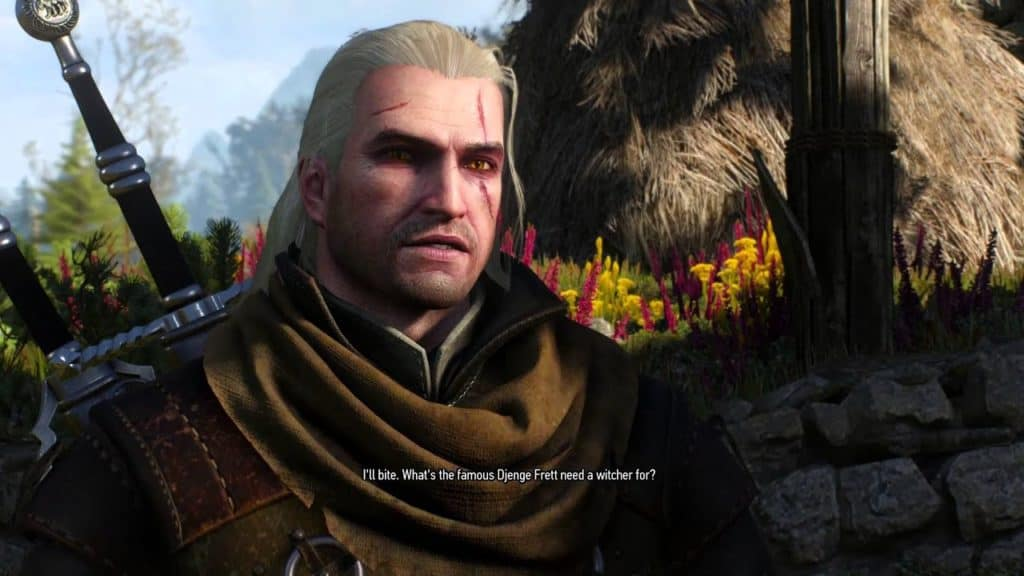 Gerald in The Witcher 3