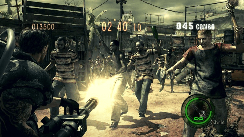 The Mercenaries in Resident Evil 5, one half of Resident Evil 5 and 6