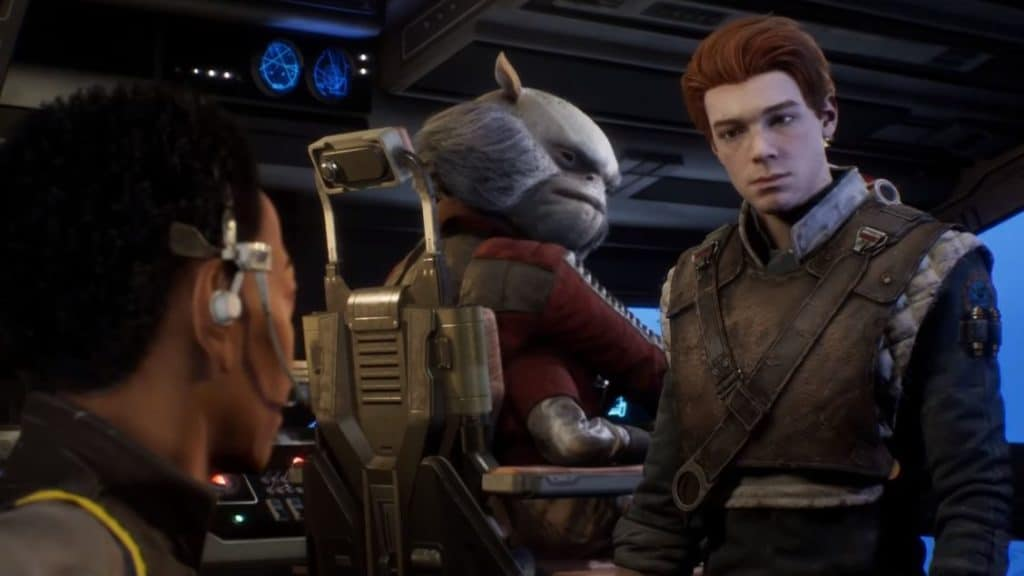 Cutscene screenshot from Star Wars Jedi: Fallen Order